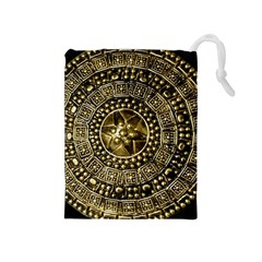 Gold Roman Shield Costume Drawstring Pouches (medium)