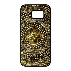 Gold Roman Shield Costume Samsung Galaxy S7 Edge Black Seamless Case