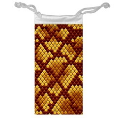 Snake Skin Pattern Vector Jewelry Bag