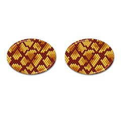 Snake Skin Pattern Vector Cufflinks (oval)
