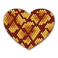 Snake Skin Pattern Vector Heart Mousepads by BangZart