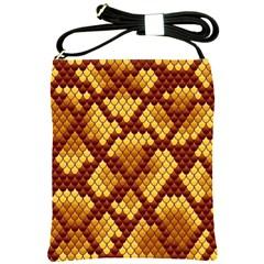 Snake Skin Pattern Vector Shoulder Sling Bags