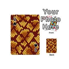 Snake Skin Pattern Vector Playing Cards 54 (mini)