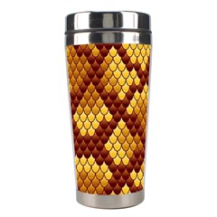 Snake Skin Pattern Vector Stainless Steel Travel Tumblers by BangZart