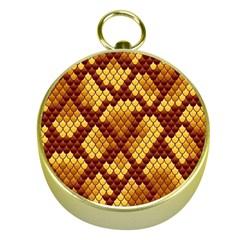 Snake Skin Pattern Vector Gold Compasses