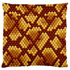 Snake Skin Pattern Vector Large Flano Cushion Case (one Side)