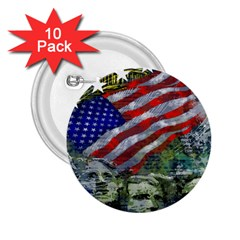 Usa United States Of America Images Independence Day 2 25  Buttons (10 Pack)  by BangZart