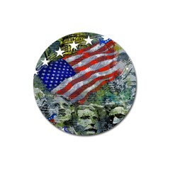 Usa United States Of America Images Independence Day Magnet 3  (round) by BangZart