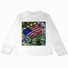 Usa United States Of America Images Independence Day Kids Long Sleeve T Shirts