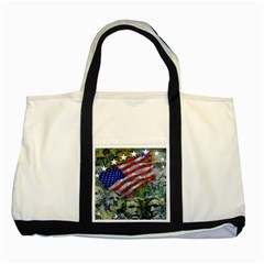 Usa United States Of America Images Independence Day Two Tone Tote Bag by BangZart