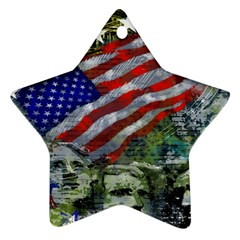 Usa United States Of America Images Independence Day Star Ornament (two Sides)