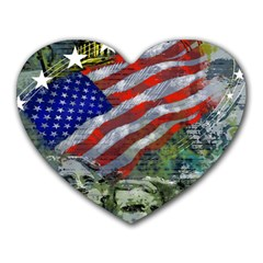 Usa United States Of America Images Independence Day Heart Mousepads