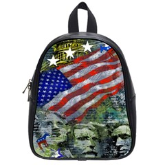 Usa United States Of America Images Independence Day School Bags (small)