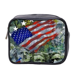 Usa United States Of America Images Independence Day Mini Toiletries Bag 2 Side