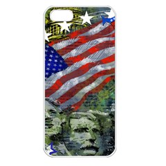 Usa United States Of America Images Independence Day Apple Iphone 5 Seamless Case (white) by BangZart