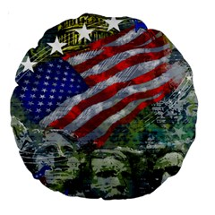 Usa United States Of America Images Independence Day Large 18  Premium Round Cushions by BangZart