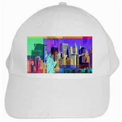 New York City The Statue Of Liberty White Cap by BangZart