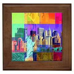 New York City The Statue Of Liberty Framed Tiles
