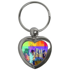 New York City The Statue Of Liberty Key Chains (heart)