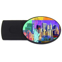 New York City The Statue Of Liberty Usb Flash Drive Oval (4 Gb)