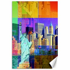 New York City The Statue Of Liberty Canvas 20  X 30
