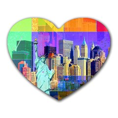 New York City The Statue Of Liberty Heart Mousepads