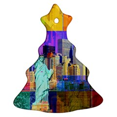 New York City The Statue Of Liberty Christmas Tree Ornament (two Sides)