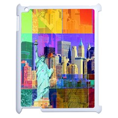 New York City The Statue Of Liberty Apple Ipad 2 Case (white) by BangZart