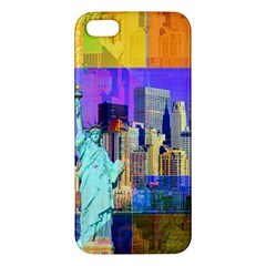 New York City The Statue Of Liberty Apple Iphone 5 Premium Hardshell Case