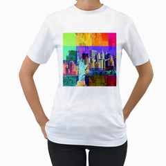 New York City The Statue Of Liberty Women s T Shirt (white)