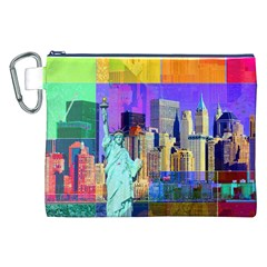 New York City The Statue Of Liberty Canvas Cosmetic Bag (xxl) by BangZart
