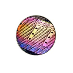 Optics Electronics Machine Technology Circuit Electronic Computer Technics Detail Psychedelic Abstra Hat Clip Ball Marker (4 Pack) by BangZart