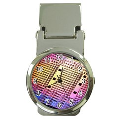 Optics Electronics Machine Technology Circuit Electronic Computer Technics Detail Psychedelic Abstra Money Clip Watches by BangZart
