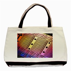 Optics Electronics Machine Technology Circuit Electronic Computer Technics Detail Psychedelic Abstra Basic Tote Bag by BangZart