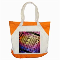 Optics Electronics Machine Technology Circuit Electronic Computer Technics Detail Psychedelic Abstra Accent Tote Bag by BangZart