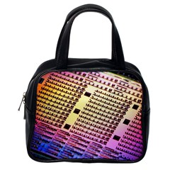 Optics Electronics Machine Technology Circuit Electronic Computer Technics Detail Psychedelic Abstra Classic Handbags (one Side)