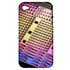 Optics Electronics Machine Technology Circuit Electronic Computer Technics Detail Psychedelic Abstra Apple Iphone 4/4s Hardshell Case (pc+silicone) by BangZart