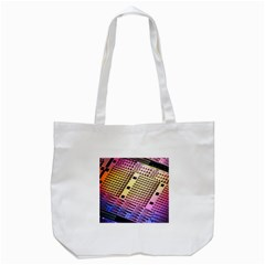 Optics Electronics Machine Technology Circuit Electronic Computer Technics Detail Psychedelic Abstra Tote Bag (white) by BangZart