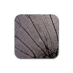 Sea Fan Coral Intricate Patterns Rubber Coaster (square)