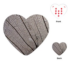 Sea Fan Coral Intricate Patterns Playing Cards (heart)