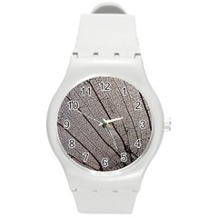 Sea Fan Coral Intricate Patterns Round Plastic Sport Watch (m) by BangZart
