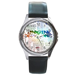 Imagine Dragons Quotes Round Metal Watch by BangZart