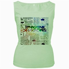 Imagine Dragons Quotes Women s Green Tank Top by BangZart