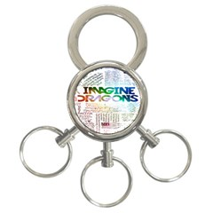 Imagine Dragons Quotes 3 Ring Key Chains by BangZart
