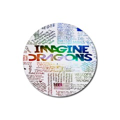 Imagine Dragons Quotes Rubber Coaster (round)