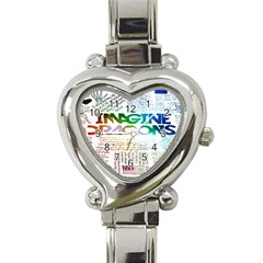 Imagine Dragons Quotes Heart Italian Charm Watch