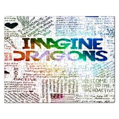 Imagine Dragons Quotes Rectangular Jigsaw Puzzl by BangZart