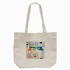 Imagine Dragons Quotes Tote Bag (cream) by BangZart