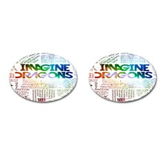 Imagine Dragons Quotes Cufflinks (oval) by BangZart