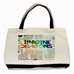 Imagine Dragons Quotes Basic Tote Bag by BangZart
